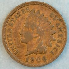 1906 Indian Head Cent Penny Liberty Very Nice Vintage Old Coin Fast S&H 78077
