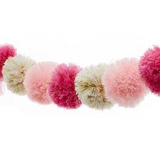 Adairs Kids pink white gold pom pom garland string tassel bedroom decor girls