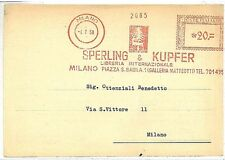 ANIMALS - TREES - PRINTERS : PNEUMATIC RED POSTMARK on COVER: ITALY 1958