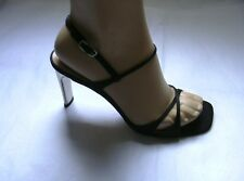 ESCADA BLACK  HEELS SHOES  SZ EU 39 1/2 C  9 1/2 C