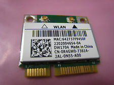 Dell Wireless Wifi Card DW1704 1704  PCI-e Half 802.11N Bluetooth 3.0 R4GW0 15R