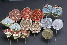 Hungary Hungarian Lot 15 Badge Pin Pioneer KISz Sports Youth 1960s Soviet