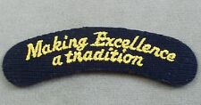 US Navy Patch Tab - Arc - Making Excellence A Tradition