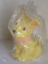 Vintage Aradeanca Dachshund Dog Mixed Breed Rubber Whistle Bath Toy W/ Tag & Bag