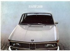 BMW 2000 Saloon 1966-67 UK Market Leaflet Sales Brochure