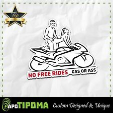 NO FREE RIDES sticker decal funny bike JDM race motorcycle suzuki ducati honda