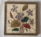VICTORIAN ARTS AND CRAFTS STYLE  FLORAL DESIGN TILE
