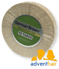 """German Brown Liner Cloth Hairpiece Tape Roll 3/4"""" x 12 yards toupee wig"""