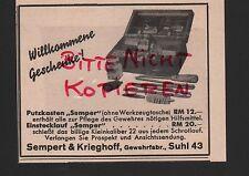 SUHL, Werbung 1939, Sempert & Krieghoff Gewehr-Fabrik Einstecklauf