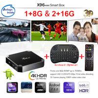X96 Mini Amlogic S905W TV BOX Quad Core 8GB&16GB Android 4K Player WiFi+Keyboard
