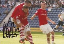 BARNSLEY: ADAM ARMSTRONG SIGNED 6x4 ACTION PHOTO+COA