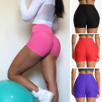 Women's High Waist Yoga Shorts Push Up Gym Workout Fitness Hot Pants Trousers G1