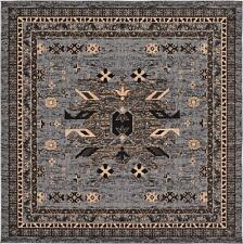 traditional gray rug new area rug oriental rug 8u0027 x 8u0027 square rug classic carpet
