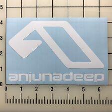 """Anjunadeep 6"""" Wide White Vinyl Decal Sticker - BOGO"""
