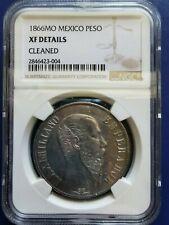 1866 Mo MEXICO Empire of Maximilian Peso Silver Coin NGC XF Details