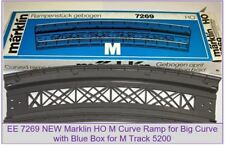 EE 7269 NEW Marklin HO Ramp Bridge for 5200 Big Radius Curve Track with Blue OBX