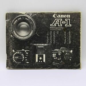 Canon A-1 Instruction Book, User Guide, Bedienungsanleitung, Manual in German