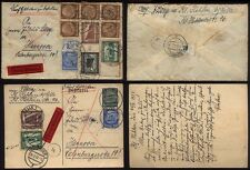 1937 GERMANY  Cover & Card Used CELLE to HANNOVER