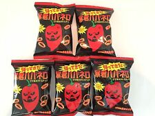 Japanese snack Chips  5 Tyrant Habanero Spicy too hot set Japan!