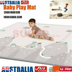 180/200cm Folding Baby Kid Play Mat Carpet Foam Non-slip Crawling Gym Pad Picnic