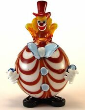 Clown Murano Glass H25cm Made in Italy Pagliaccio