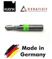 klenk Solid Carbide End Mill R 7mm Shank Dia 8MM TiAIN Coat 2-Flute