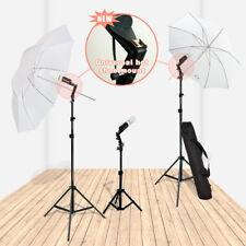 Studio Photography Lighting Kit 3 Point Lighting Umbrella Photo Bulb Lamp