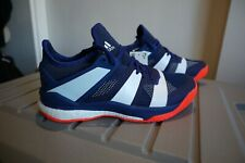 on sale 54b5f aa7bb Adidas Stabil X Indoor Handball Shoes Blue White Red AC8561 Mens size 7