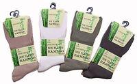 6 Pairs Mens Bamboo Non Elastic Anti Bacterial Super Soft Odour resistant Socks