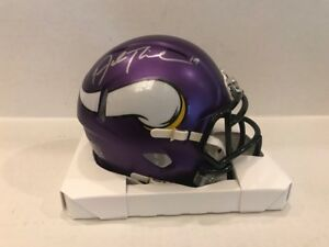 Adam Thielen Signed Minnesota Vikings Speed  Mini Helmet COA/Hologram