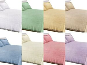 Candlewick Bedspread Traditional Bed Throw in 8 Colours Pillowshams Available