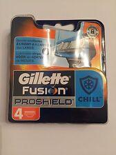 4 Gillette Fusion les vêtements ProShield Chill Bleu Lames de rasoir en avec