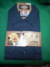 Dickies Long Sleeve Navy Work Shirt  Size Large  New