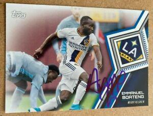 Emmanuel Boateng Signed 2018 Topps MLS Card LA Galaxy DC United
