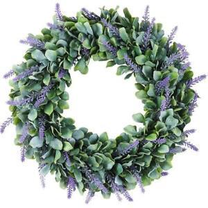 Artificial  Door Wreath Hanging Lavender Flower Garland Fake Plant Home Decor