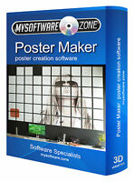 POSTER MAKER CREATION SOFTWARE CD-ROM FOR PC