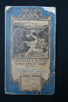 """OS Linen 1"""" Map Reigate and Tunbridge Wells Sheet 125 1936 Good Used Condition"""