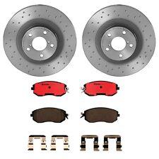 Brembo Front Brake Kit Ceramic Pads Drilled Disc Rotors for Scion Subaru Toyota