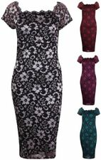 Lace Floral Dresses for Women with Cap Sleeve