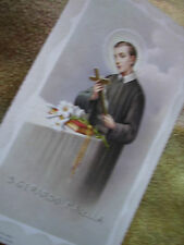 VINTAGE HOLY PRAYER BOOK CARD- ST GERARD MAJELLA  church incense thurible mass