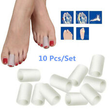 Toe Silicone Gel Protector Sleeve Tubes Ingrown Toenail Corn Cushion Cap 10 Pcs