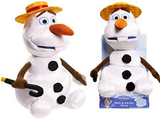 NEW DISNEY FROZEN SING & SWING OLAF SNOWMAN SINGING SOFT TOY WHITE XMAS GIFT
