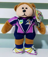 Melbourne Storm Beanie Kid w/ Swing Tags NRL Mascot Plush Toy 21cm Tall!