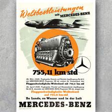 A3 A6 Vintage POSTER - MERCEDES BENZ MESSERSCHMITT BF109 WW2 - Retro Art Print