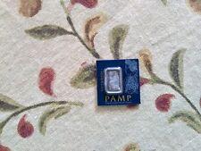 1 gram Pamp Suisse Platinum Bar (in Assay) .9995 Fine
