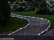 Solar Lichterschlauch mit 50 LEDs Kaltweiß Lichterkette 7m Garten Beleuchtung