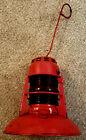 Dietz  Railway Traffic Gard Lantern No. 40 with Red Globe and Burner Hook