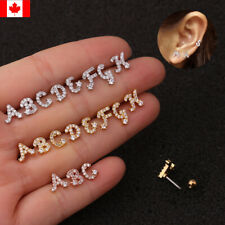 1PC Ear Cartilage Helix Piercing Jewelry Cz 26 Letters Initial Name stud earring