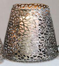 Windlicht Kerzenhalter Purley antik Silber Metall H. 20 Cm Casablanca