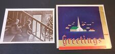 2 Vintage Coca Cola Christmas Cards from Bakersfield Bottling Co #3